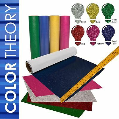 Color Theory Glitter Heat Transfer Vinyl 12x20 6-sheet Starter Bundle Tshirt