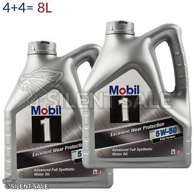 Mobil 1 FS x1 5W-50 4L + 4L = 8 Liter Peak Life Nachfolger Motoröl 5W50 8L