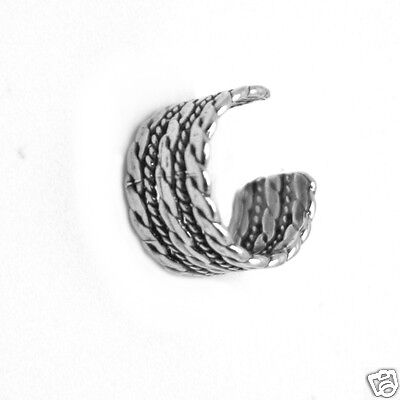 Rope Braid Ear Cuff Sterling Silver 925 Earcuff Fashion Earrings Jewelry Gift