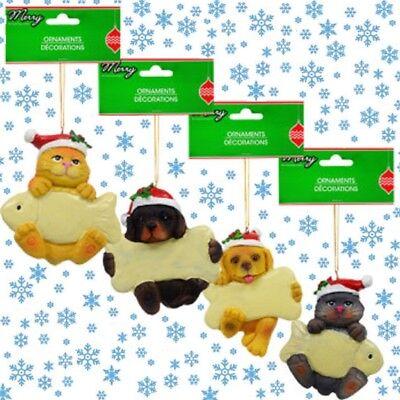 Christmas Puppy, Kitten, Dog, Cat  Hanging Ornaments  Very Cute  LQQK!