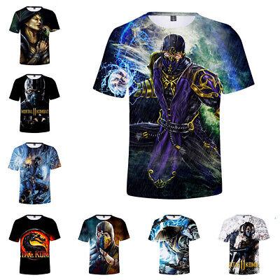 Movie Mortal Kombat plus size Women Men T-Shirt 3D Print Short Sleeve Tee tops - Plus Size Movie