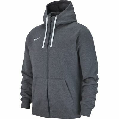 Fleece Hoody Jacke (Nike Fleece Hoody Kapuzenjacke Hoodie Grau Team 19 Full Zip Jacket AJ1313 071  )