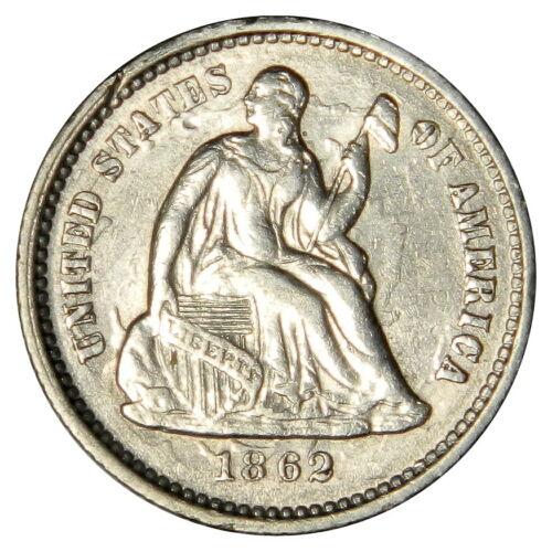 1862 SEATED HALF DIME ~ NICE XF/AU ~ PRICED RIGHT!