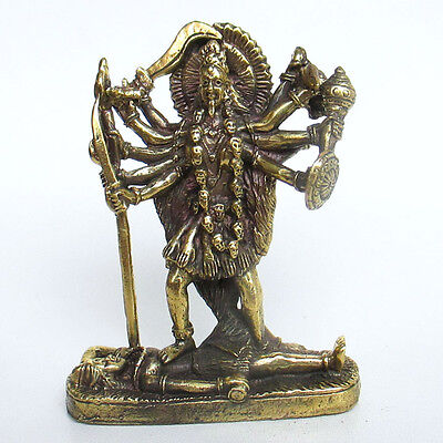 Kali Goddess Mini Statue Hindu Deity Amulet Parvati Mahavidyas  for sale  Shipping to United States