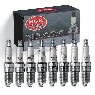 New 8pcs NGK V-POWER Spark Plugs for 1985-1987 CHEVROLET CORVETTE V8-5.7L