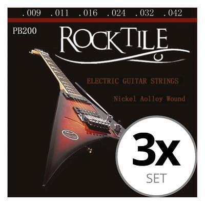 3x Juego de Cuerdas para Guitarra Electrica Niquel Nickel Wound Acero 009...