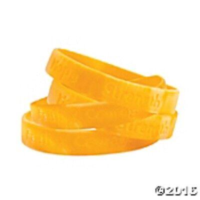 12 Camo Gold Ribbon Camouflage Silicone Bracelets Childhood Cancer Awareness