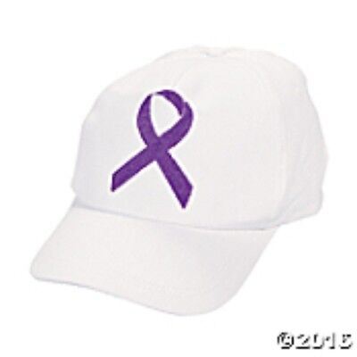 Purple For Cancer (Purple Ribbon Design Cancer Awareness Embroidered Baseball Cap Relay for)