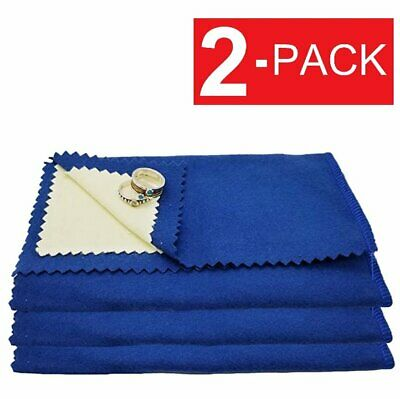 2-Pack Jewelry Cleaning Polishing Cloth Instant Shine Protects Gold Silver Brass Jewelry & Watches