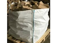 3x1ton bulk bags of barn dried seasoned hardwood firewood logs with free delivery and stacking £140