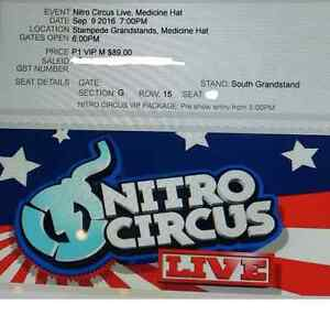 3 VIP Tickets to Nitro Circus Medicine Hat Sept 9th