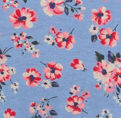 Light Shade Floral Lightweight Printed Denim Craft Fabric Thin 100% Cotton Dress Lightweight Printed Cotton