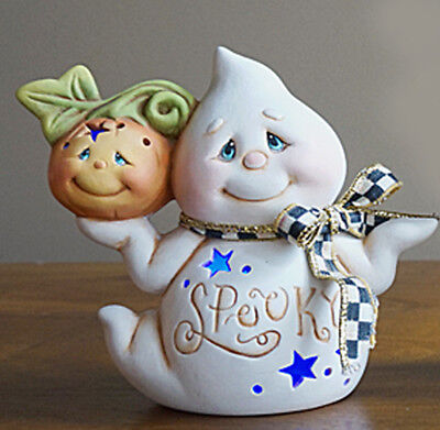 Ceramic Bisque Ready to Paint Small Jack the Ghost Lights Up~electric included