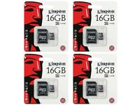 Micro SD SDHC Memory Card 16gb Class 4 with Full Size SD Card Adapter