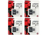 32 & 16GB MICRO SD SDHC MEMORY CARD CLASS 4 WITH FULL SIZE SD CARD ADAPTER
