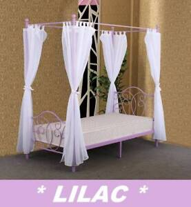 Brand New SINGLE KIDS BED 4 Post Canopy Bed DELIVERED FREE