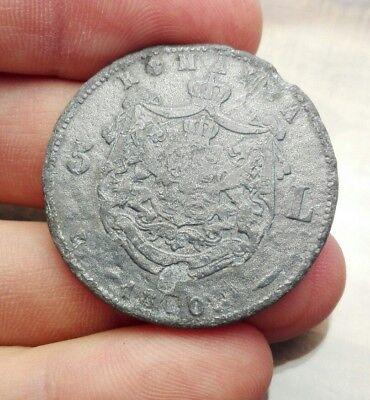 Moneta coin munze Romania 5 lei 1880 fake falso epoca 18.9 grammi  #2114