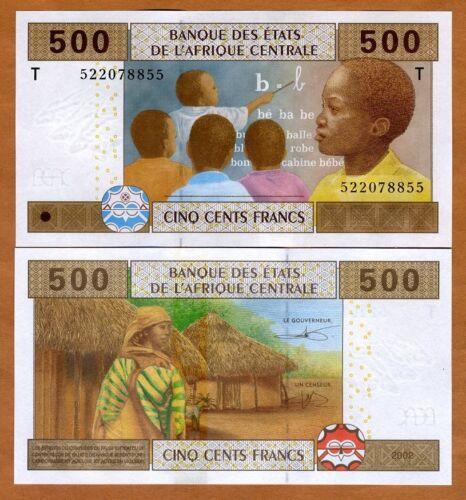 Central African States, Congo 500 Francs, 2002, P-106T, UNC > Schoolchildren