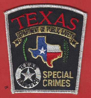 "Texas Ranger Law Enforcement Fantasy Patch  Ranger with Gun 3-1//4/""  Made USA"