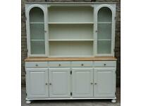Large Ducal dresser shabby chic painted in Farrow & Ball off white no.3