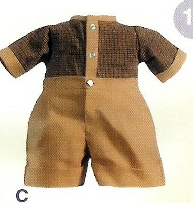 "Lot of 4 Boy's Tan Shirts & Shorts by Apple Valley Doll Works for a  22"" doll"