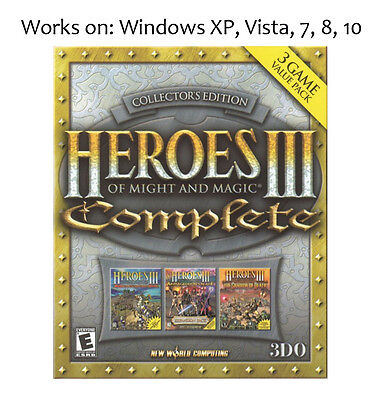 Heroes of Might and Magic III 3 Complete Collection PC Game Win XP Vista 7 8