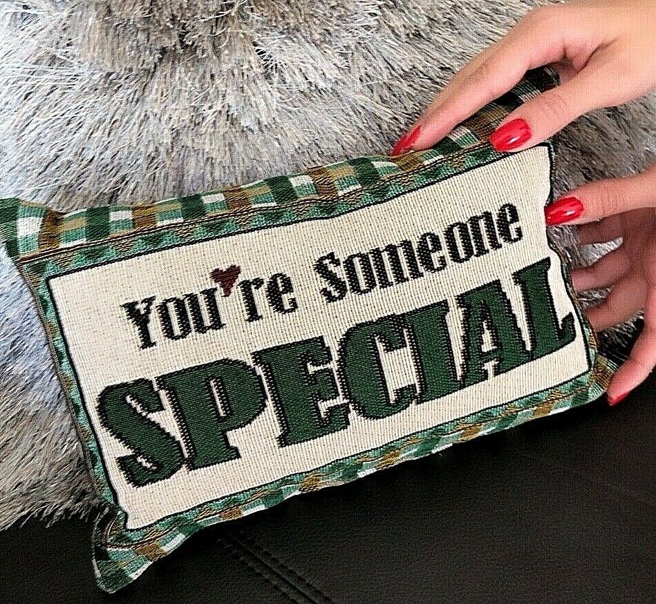 You are Someone Special Pillow Made in USA Attractive Tapestry Look 12″x 9″ Gift Home & Garden