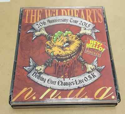 The Wildhearts Live Set 3 x CD Osaka 2015 Clam Abuse Silver Ginger 5 Honeycrack