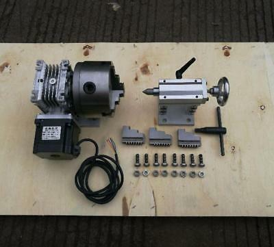 Cnc Router Rotary Axis A 4th-axis3-jaw-100mm Tailstock Steel Frame 201