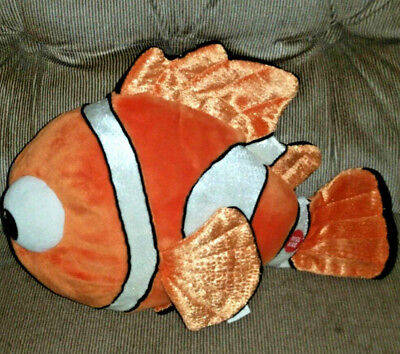 Disney Theme Parks WDW Finding Nemo 13in Talking NEMO Orange Soft Velour Plush  - Finding Nemo Theme