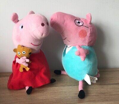 "TY - PEPPA PIG - DADDY PIG - 9"" PLUSH SOFT TOYS - FREE POSTAGE - VGC"