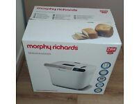 New boxed unused Morphy Richards 48326 Manual Breadmaker - White