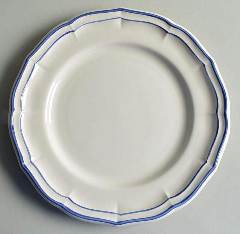 Faiencerie De Gien Filets Bleus  Dinner Plate 11732172