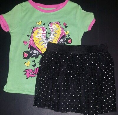 Punk Outfit Girl (Girls 4T Punk Rock Outfit Rolling In Style Top And Polka Dot)