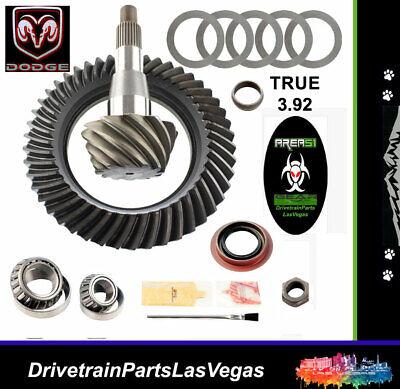 """Dodge 9.25"""" 3.92 Ring Pinion Gear Set & Pinion Kit Area51 Gear Dodge Ram 12 Bolt"""