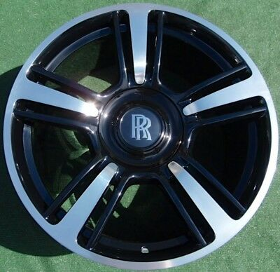 Perfect OEM Factory Rolls-Royce DAWN WRAITH Ghost BESPOKE 21 WHEELS Black Badge