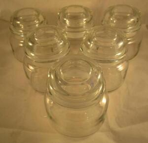 New Glass Candle Apothecary Jar With Lid Clear Candy Wedding Jars Small Lot 6