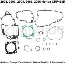 2002 2003 2004 2005 2006 Honda CRF450R Rebuild Top End