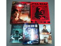 8 x books - Space and Sci Fi ( JOB LOT-) Dr Who / Tron/ Star Wars /Brian Cox Universe Ex Cond