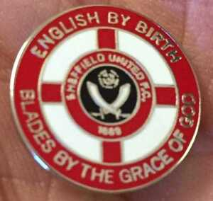 SHEFFIELD UNITED BLADES BY THE GRACE OF GOD ENAMEL PIN BADGE