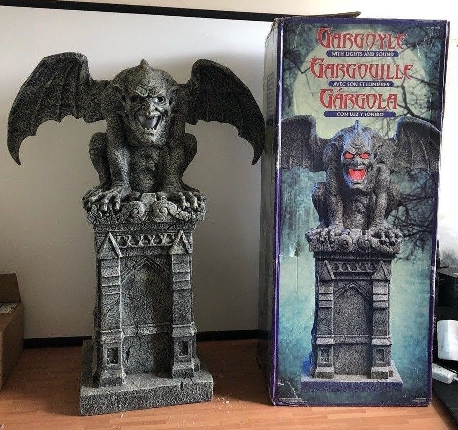 Gargoyle With Lights And Sound Xl Prop Halloween Statue Decor Costco Life Size Gothic Graveyard In Downend Bristol Gumtree