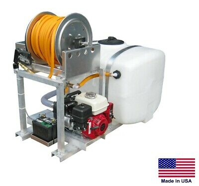 De-icer Sprayer Commercial - Skid Mounted 100 Gal Tank - Salt Brine Poly Pump
