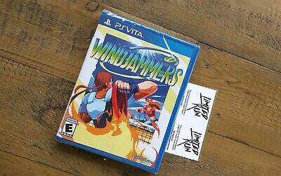 NEW - Windjammers PS Playstation VITA Game - Factory Sealed - Limited Run Games