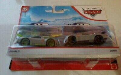 DISNEY PIXAR CARS Next Gen RACERS RONALD + JUNYI RUST-EZE RACING CENTER 2 PACK
