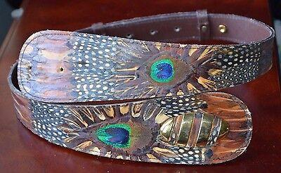 Lee Sands Genuine Peacock Brown Belt 34