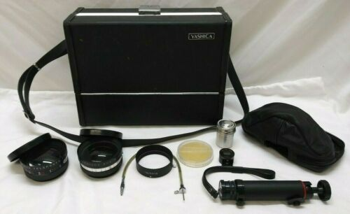 Yashica Vintage Case, Travel Tripod, Telephoto & Wide Angle Lenses & more