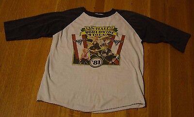 Vintage 1981 Van Halen Worldwide World Tour Concert Tee T Shirt Medium Baseball