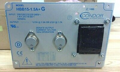 Condor Weldlogic 24v Power Supply Ac-dc Power Supplies Hbb15-1.5-ag Linear