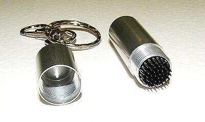 Pool Cue - Billiard Stick Tip Tool Pick w/ Key Chain Silver Billiards Cue Tip Tool