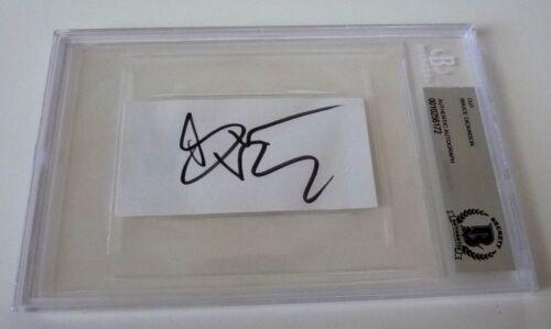 Bruce Dickinson Iron Maiden Signed Auto 1.75x3.75 Cut Beckett Certified Slab #2